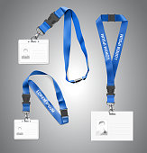 Set of lanyards with id card.