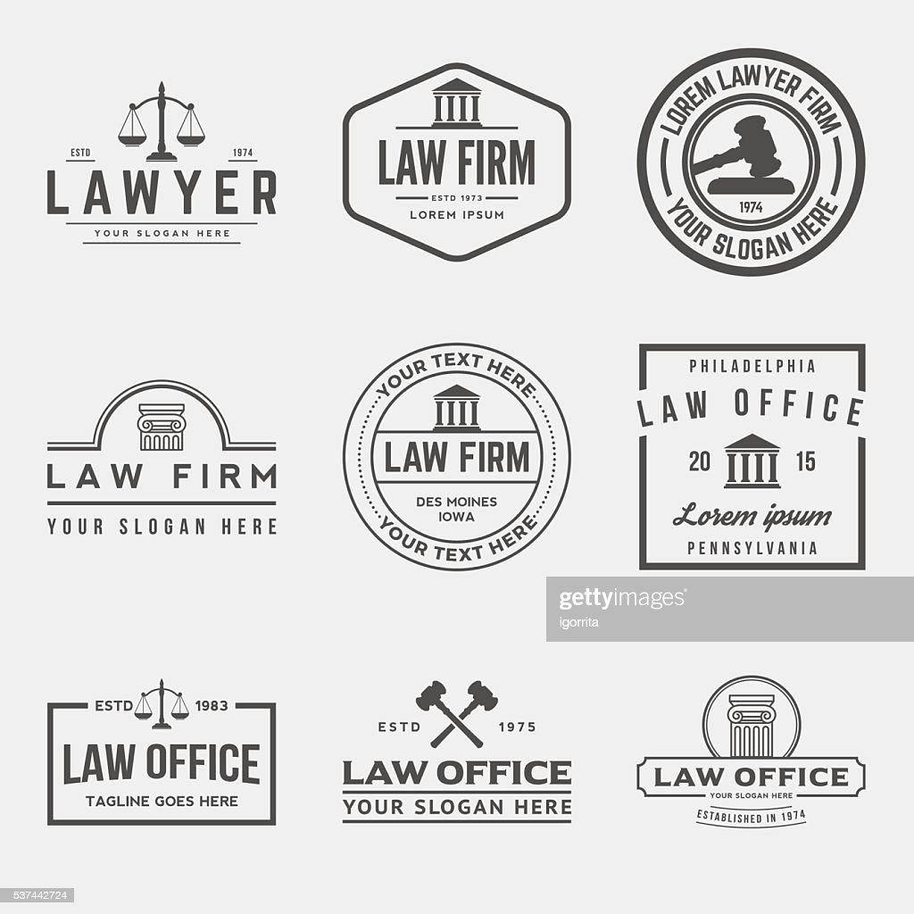 set of law office logos