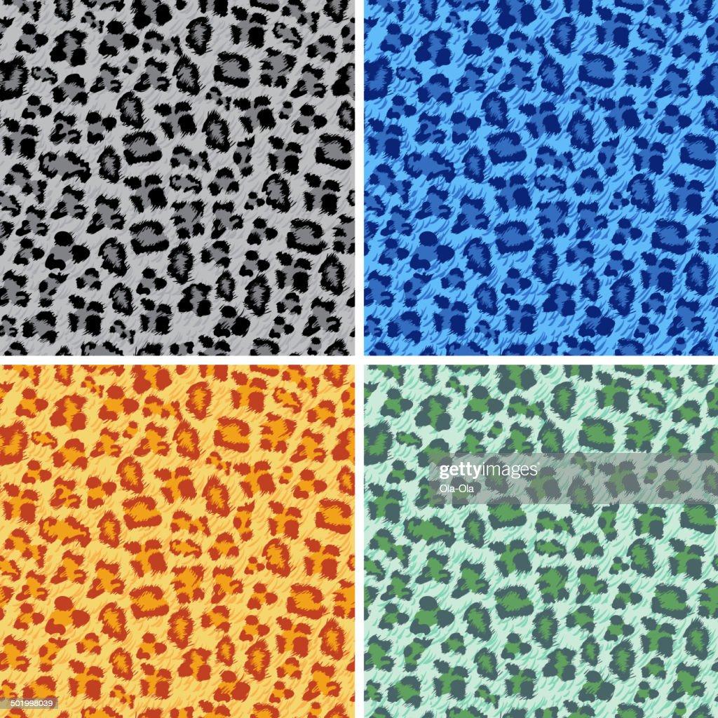Set of leo seamless backgrounds