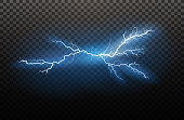 A set of lightning Magic and bright light effects. Vector illustration. Discharge electric current. Charge current. Natural phenomena. Energy effect illustration. Bright light flare and sparks