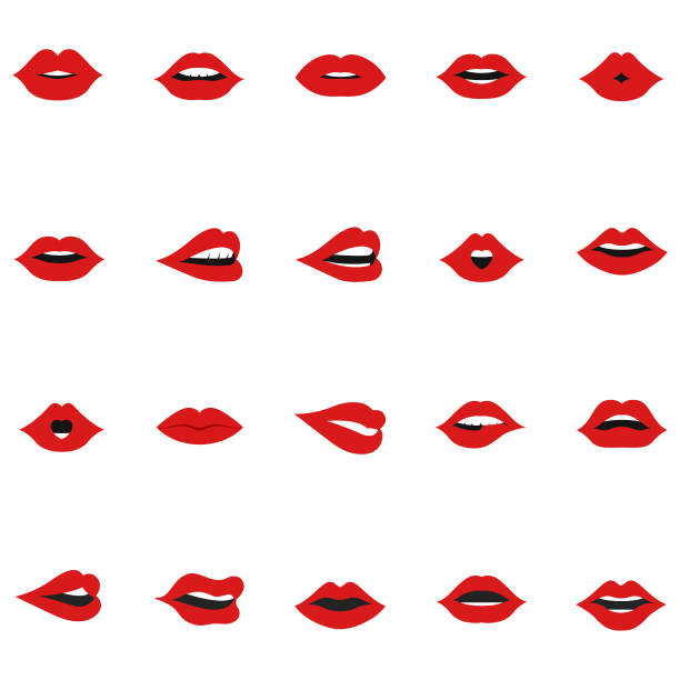 set of lips icon - lips stock illustrations