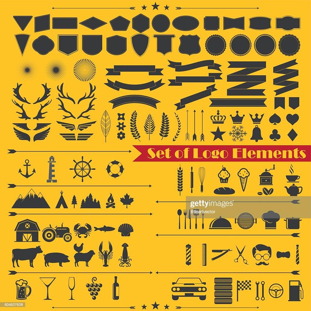 set of logo elements 1