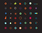 set of logo or symbols