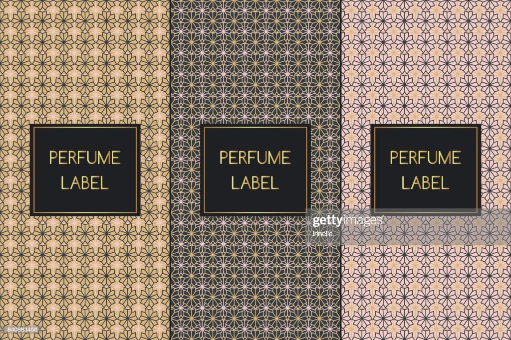 Set of luxury patterns vector seamless