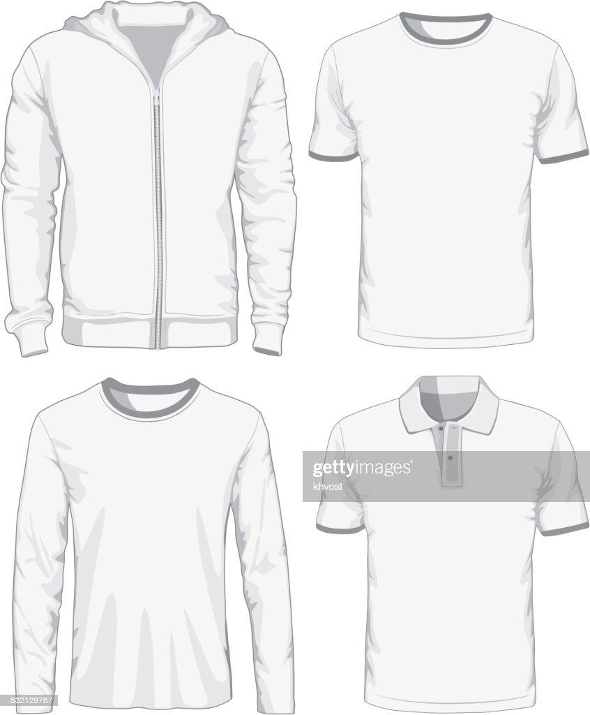 Set of male shirts. Vector illustration