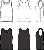 Set of male undershirt.