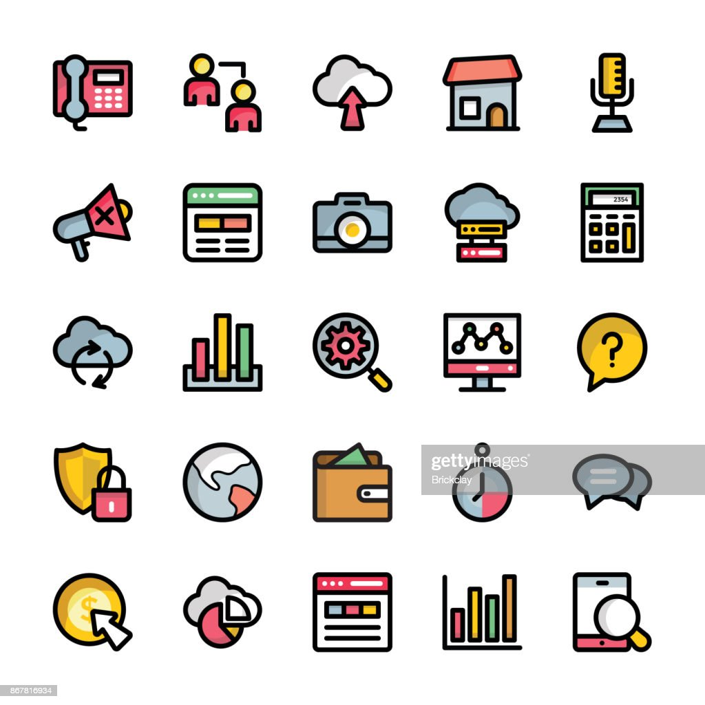 Set of Marketing Outlined Icons