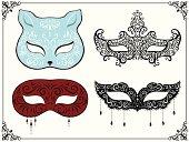 Set of masquerade masks