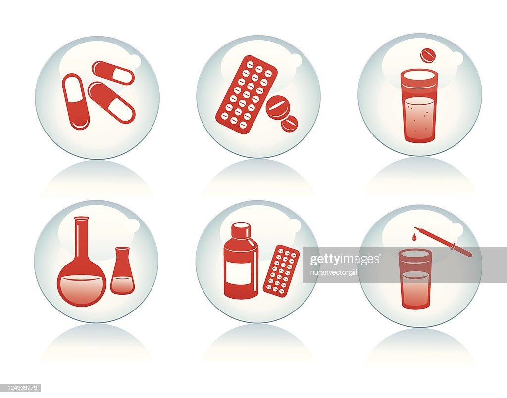 Set of medical icons. Medicine.