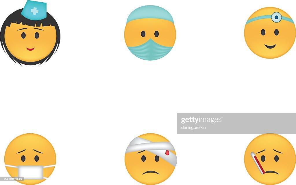 Set of medicine emoticon