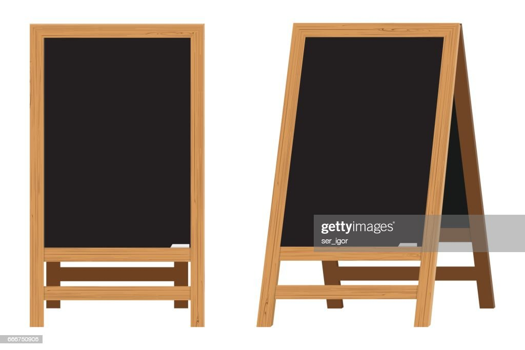 Set of Menu Black Boards.Vector illustration