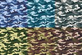 Set of military camouflage seamless pattern