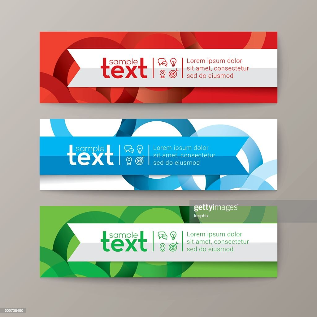Set of modern banners template with colorful abstract circle background