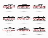 Set of modern car logo design templates. Vector illustration