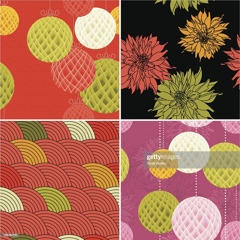 Set Of Modern Chinese Patterns High Res Vector Graphic Getty Images