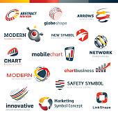 Set of modern designed icons