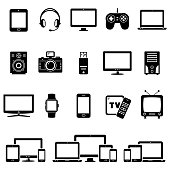 Set of Modern Digital devices icons