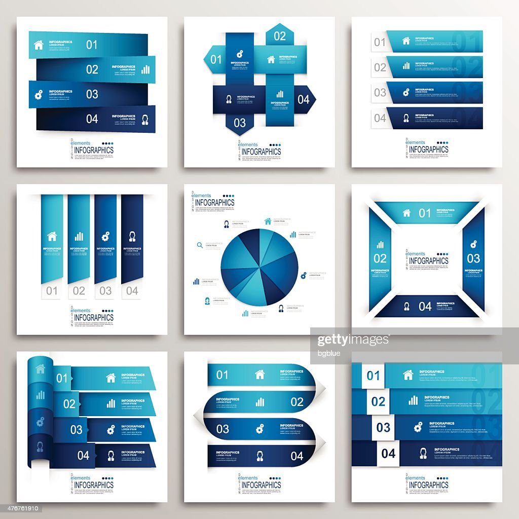 Set of Modern Infographics Elements