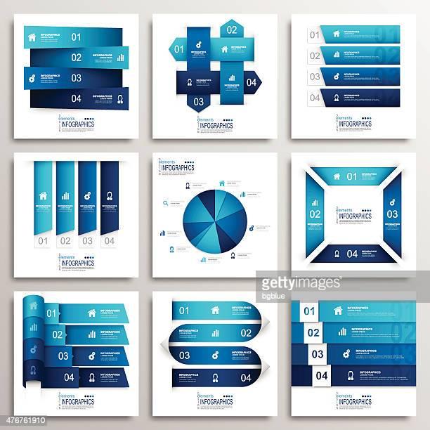 ilustrações, clipart, desenhos animados e ícones de moderno conjunto de elementos de infográficos - gráfico circular