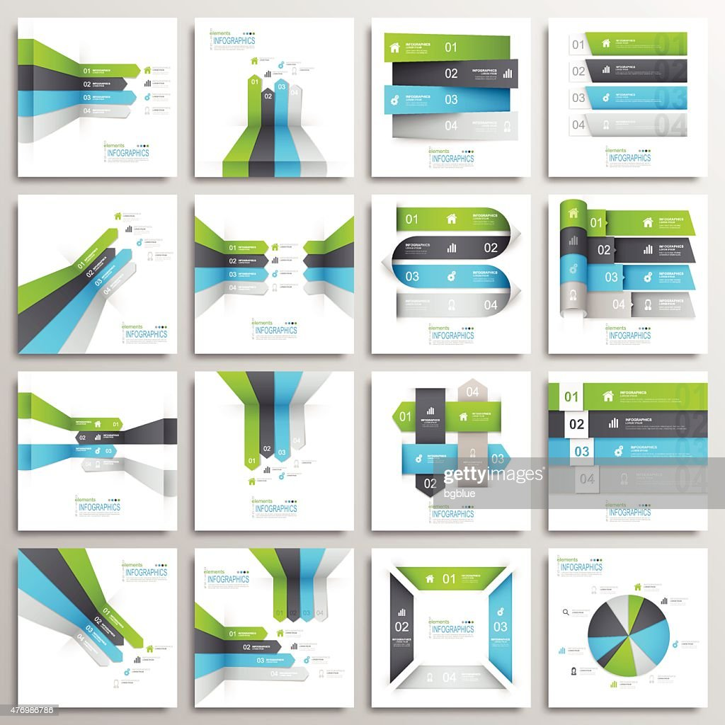 Set of Modern Infographics Elements