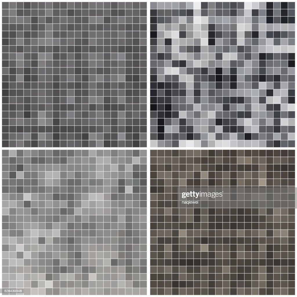 set of Monochrome check pattern background