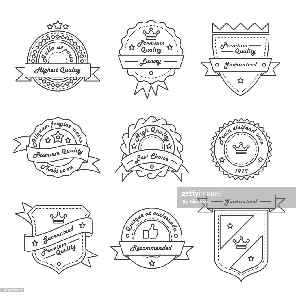 Set of Monochrome Label, Logo and Badge Templates