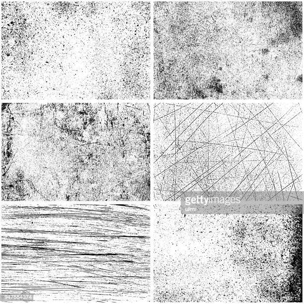set of monochrome texture backgrounds - crumpled stock illustrations