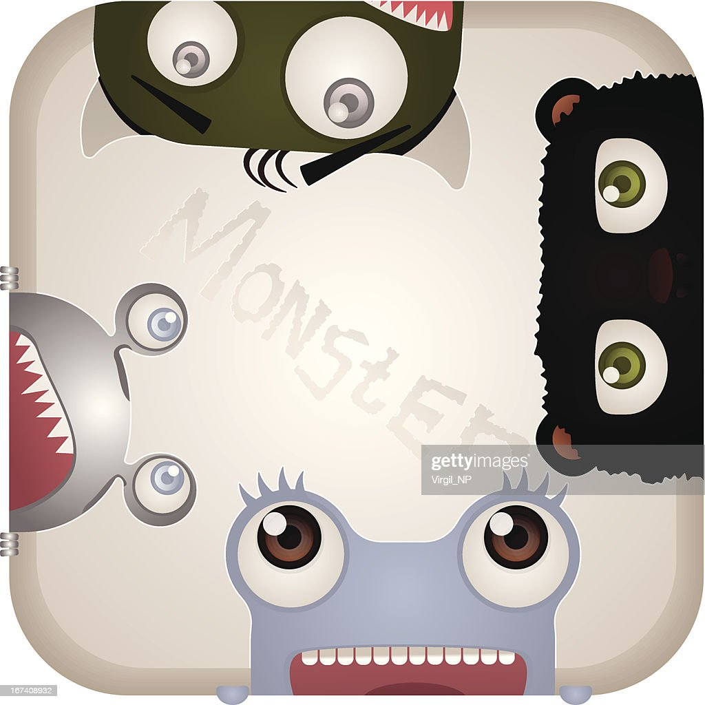 Set of Monsters : Vector Art
