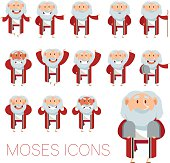 Set of Moses icons