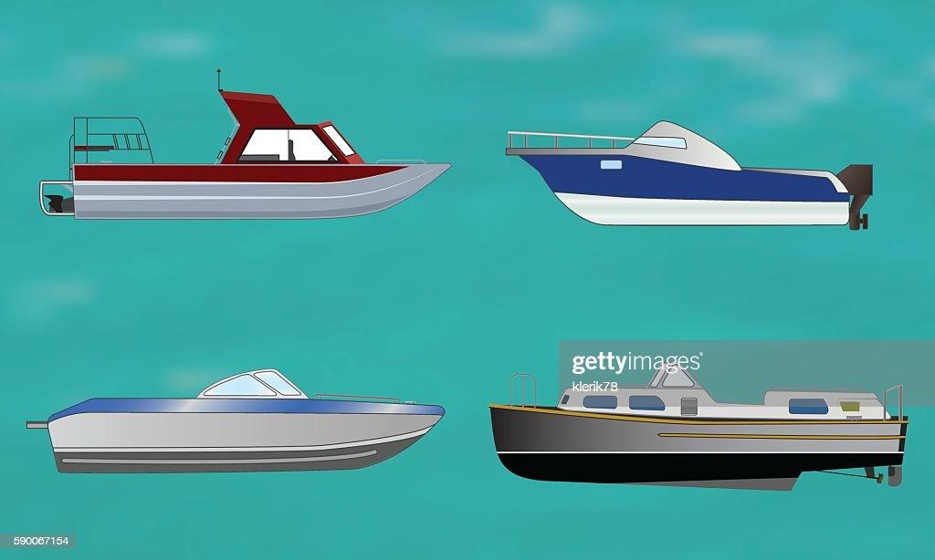 Set of motor boat