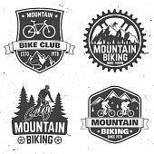 Set of Mountain bikings clubs. Vector illustration