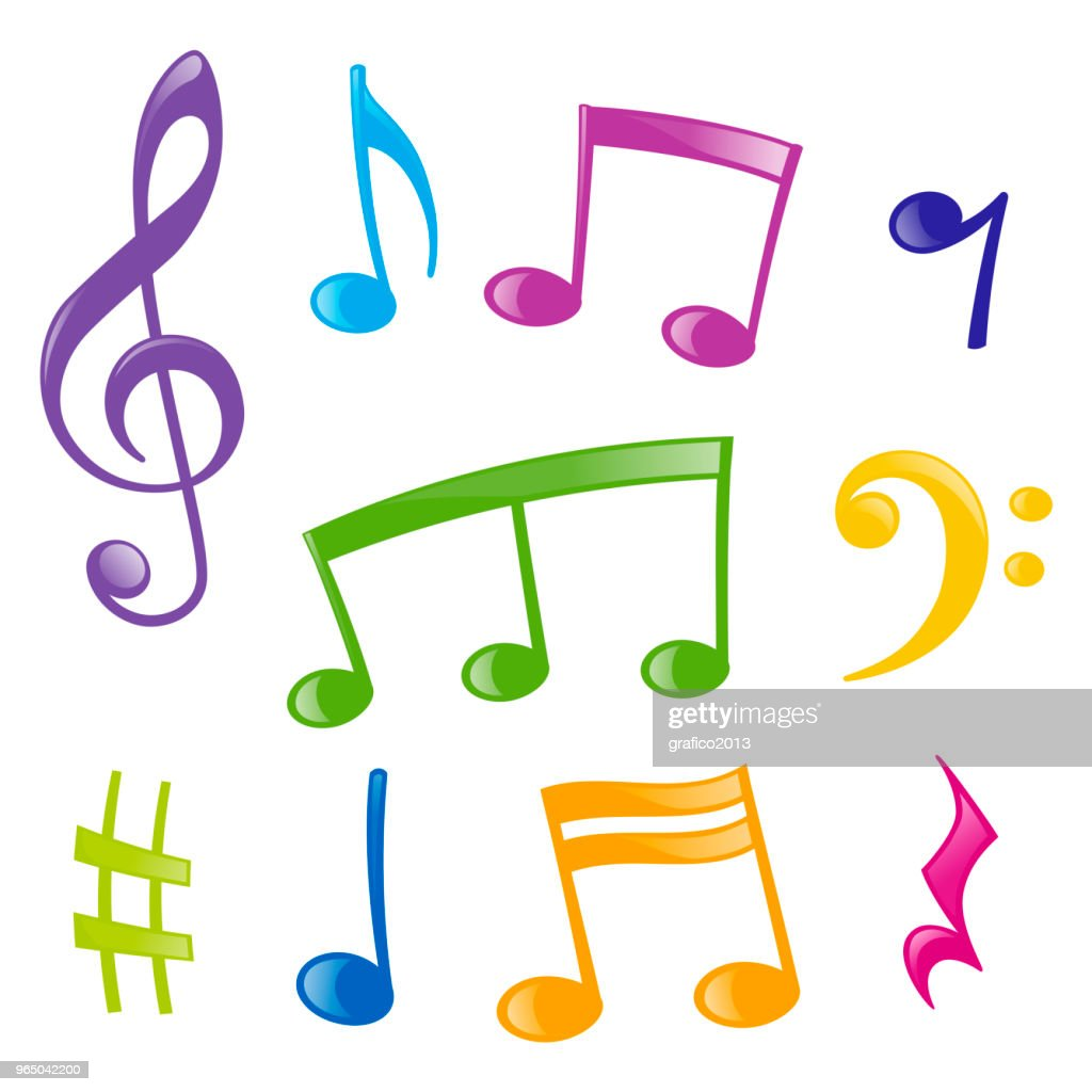 Set of musical signs : stock illustration