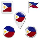 Set of national flag