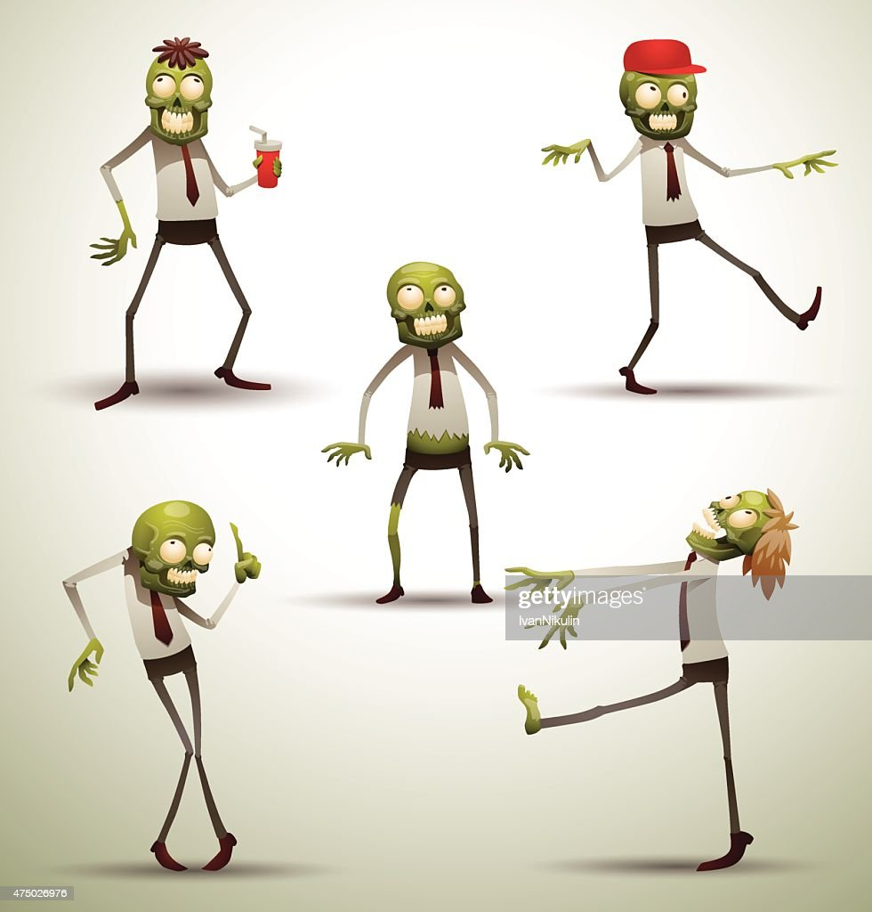 Set of New Office Zombies