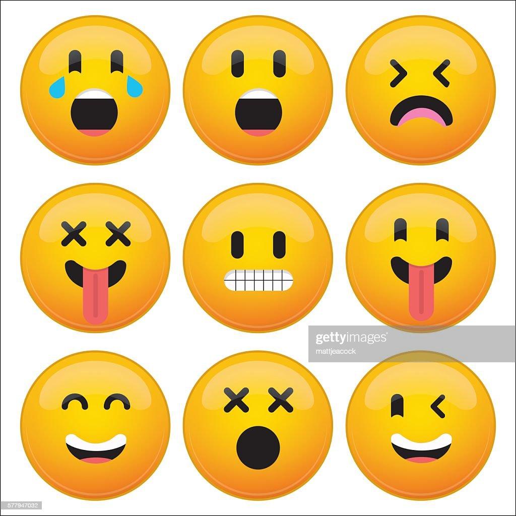 Worksheets Emotion Faces set of nine emoji emotion faces vector art getty images art