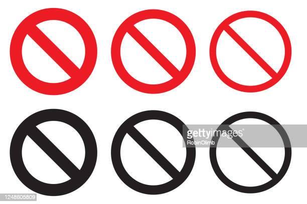 シンボルなしのセット - 禁止点のイラスト素材/クリップアート素材/マンガ素材/アイコン素材