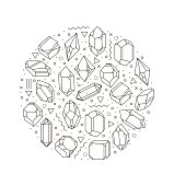Set of non-linear crystals