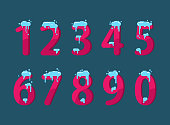 A set of numbers. Christmas decoration