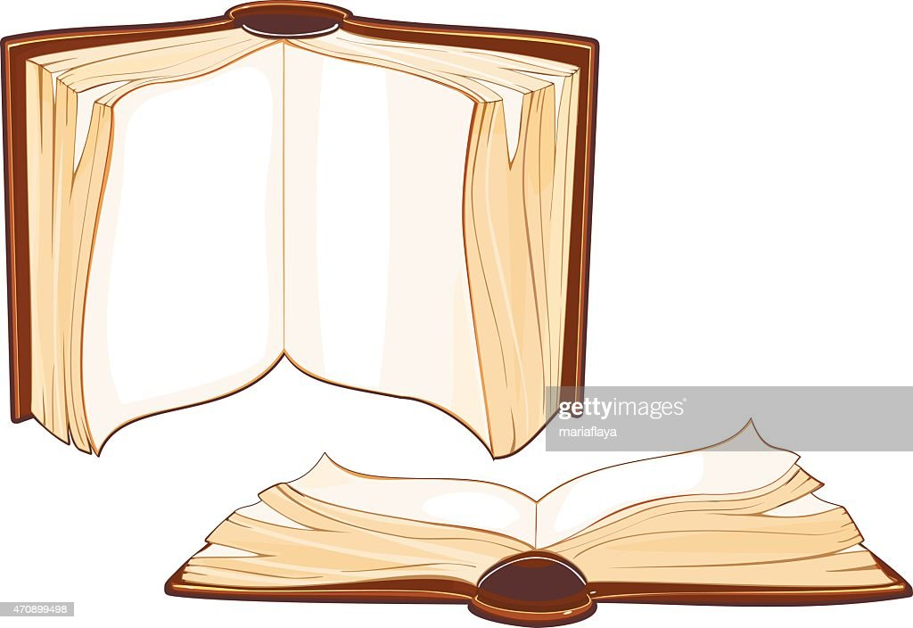Set of open old book