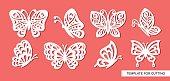 Set of openwork butterflies.