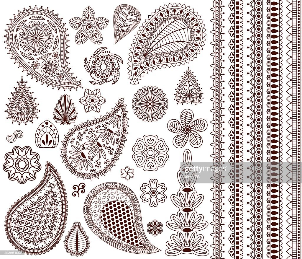 Set of oriental ornaments