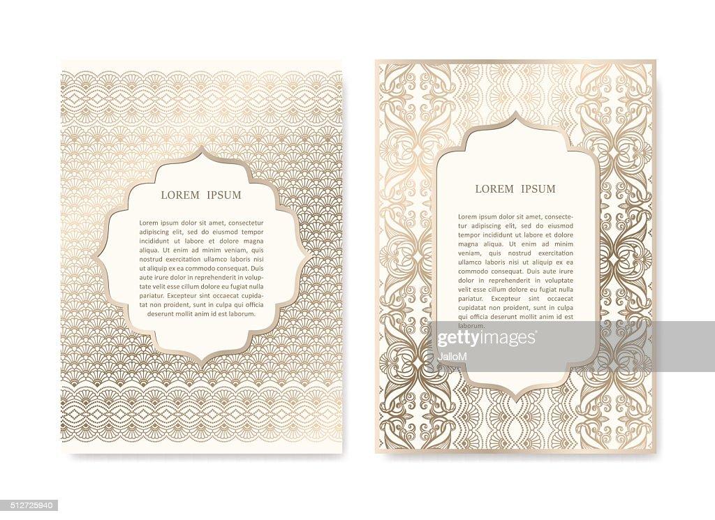Set of Ornamental Cards