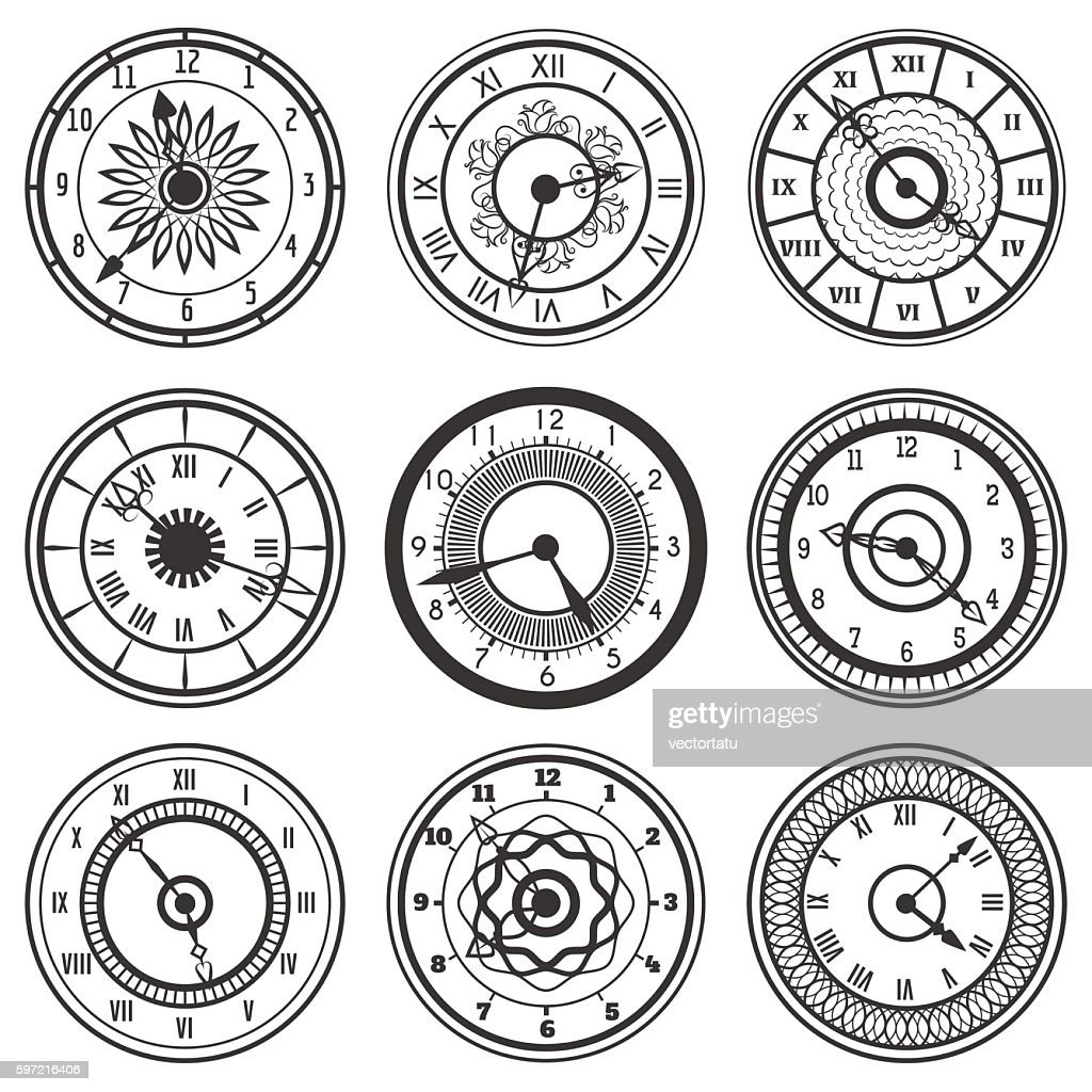 Set of ornamental watches