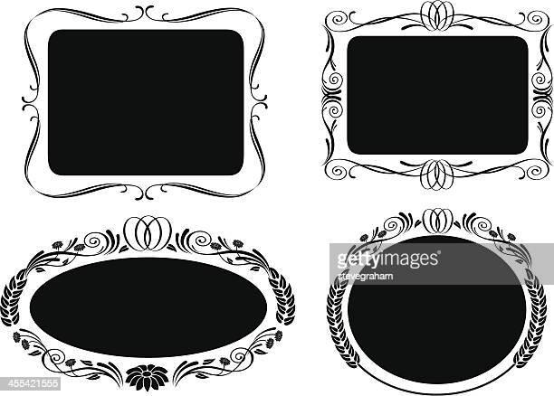 フレームの装飾セット・ラベル - 飾り板点のイラスト素材/クリップアート素材/マンガ素材/アイコン素材
