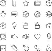 Set of Outline stroke General icon