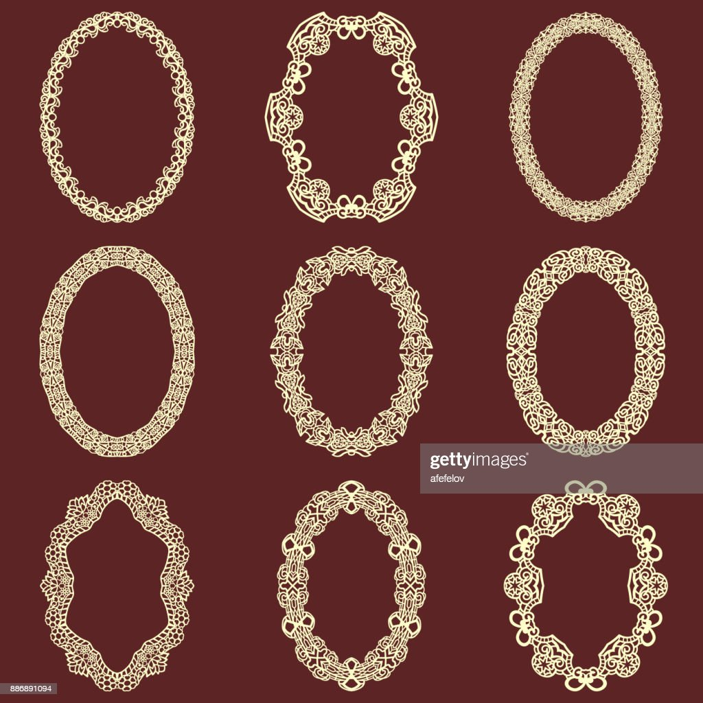 Vintage frame design oval Oval Shape Set Of Oval Vintage Frames Isolated Background Vector Design Elements That Can Be Cut With Getty Images Set Of Oval Vintage Frames Isolated Background Vector Design