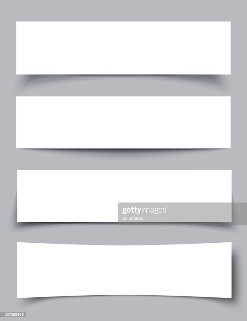 Set of Paper Banners with shadows