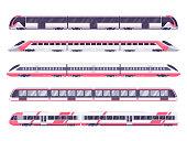 Set of passenger train