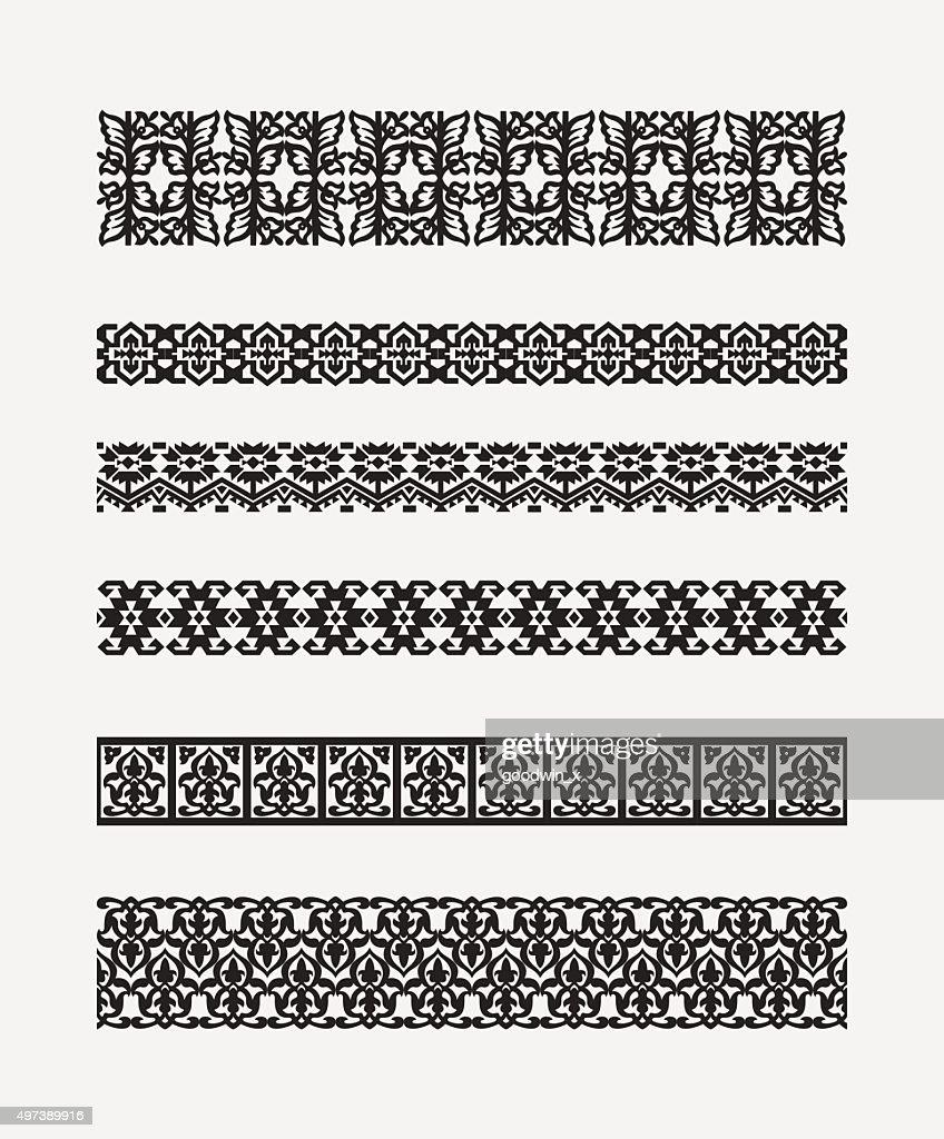 set of patterns for borders frames 2
