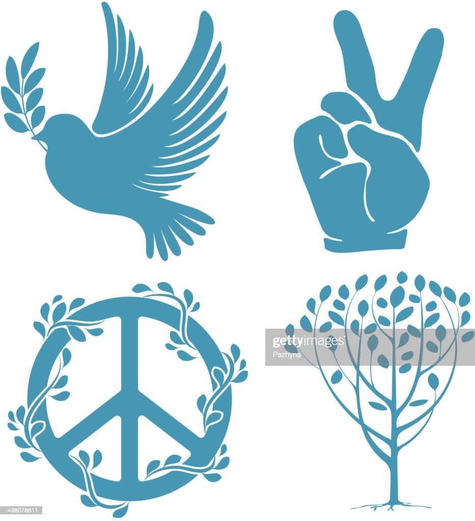 Set of peace symbols